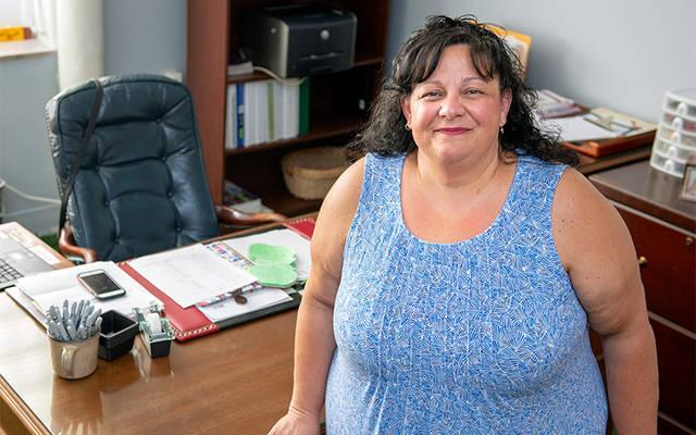 <p>Mary Jo Keba is the new principal at St. Joseph School in Auburn. (Courier photo by Jeff Witherow)  </p>