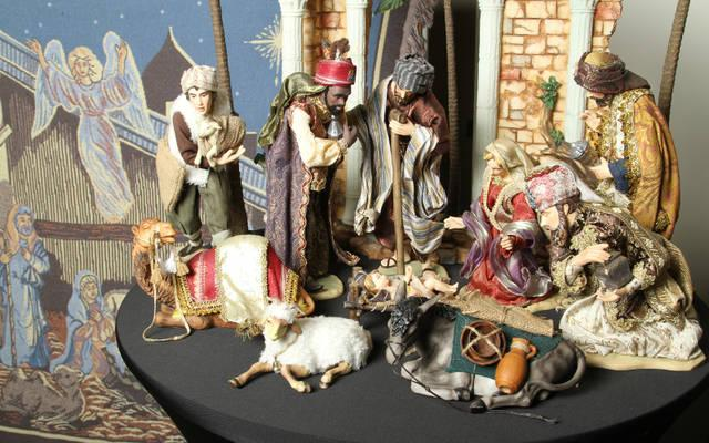 <p>This creche appears in a Christmas exhibit at the Monastery of the Holy Spirit in Conyers, Ga., and is from a collection owned by Marcy Borkowski-Glass of St. Pius X Church in Covington. The exhibit, which was to end Christmas Eve, showcased some 500 Nativity scenes from Glass&rsquo; personal collection and a select few from the monastery. (CNS photo by Michael Alexander)  </p>