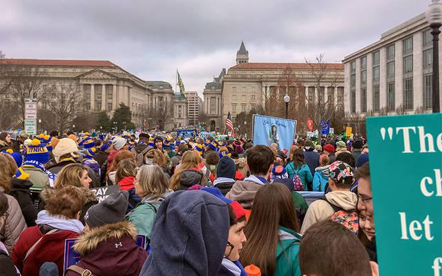 <p>Pro-life advocates participate in the March for Life in Washington, D.C., Jan. 18. (Photo courtesy of Dr. Steve Spaulding)  </p>