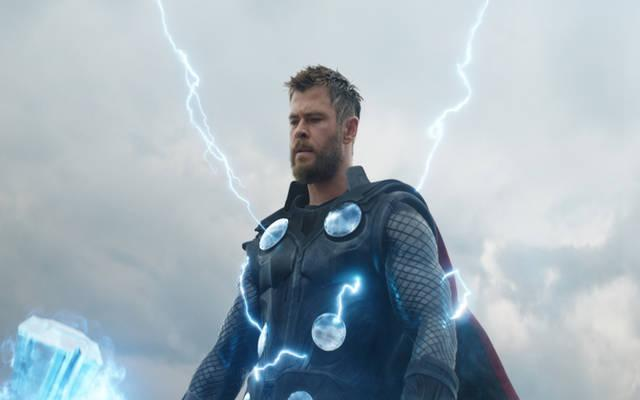 """<p>Chris Hemsworth stars in a scene from the movie """"Avengers: Endgame."""" (CNS photo by Disney)  </p>"""