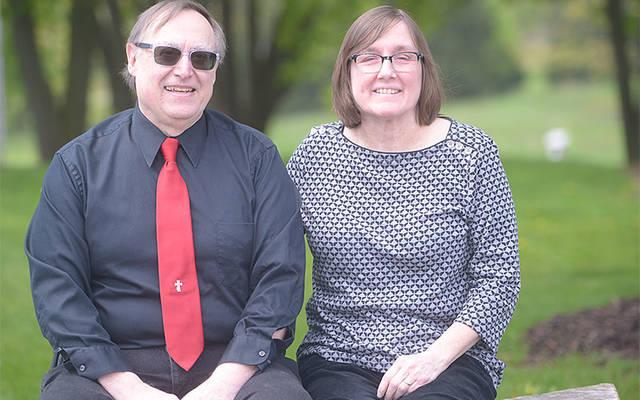 Deacon George and Mary Ann Kozak recently spoke about how they have supported each other during challenging times in their four-decade marriage. (Courier photo by John Haeger)