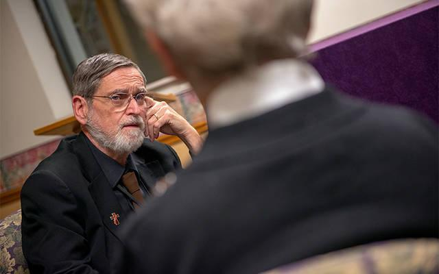 <p>Deacon Robert McCormick is the chaplain at Hornell's St. James Mercy Hospital. </p>