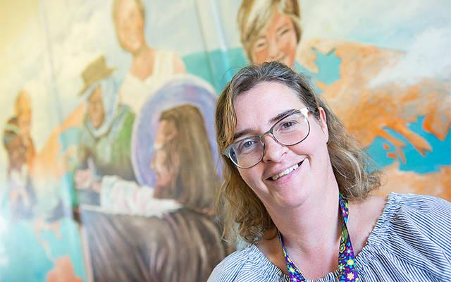 <p>Debra Marvin is the new principal at St. Michael School in Penn Yan. (Courier photo by John Haeger)  </p>