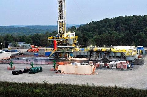 """Dimock Township, Pa. (above) has been called the Ground Zero of the battle against hydraulic fracturing, a drilling method used to recover natural gas deposits in shale rock. In July, the process, also known as """"hydrofracking,"""" took a step closer to becoming reality in New York state."""