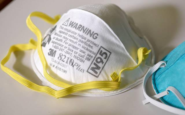 <p>Various N95 respiration masks are pictured at a laboratory of 3M. (CNS photo by Nicholas Pfosi/Reuters)  </p>