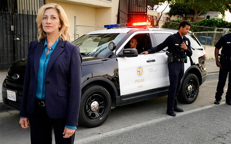Edie Falco as Abigail 'Tommy' Thomas in the new CBS drama TOMMY.