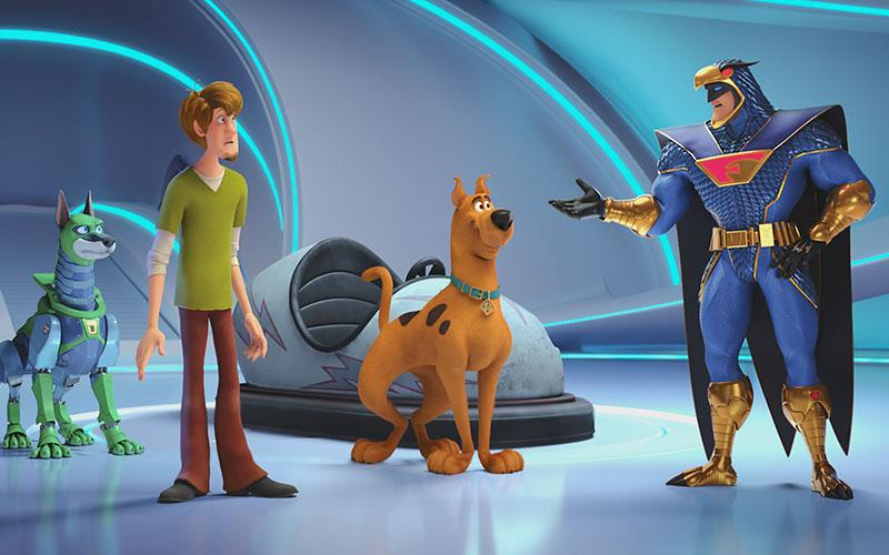 """This is a scene from the animated movie """"Scoob!"""""""