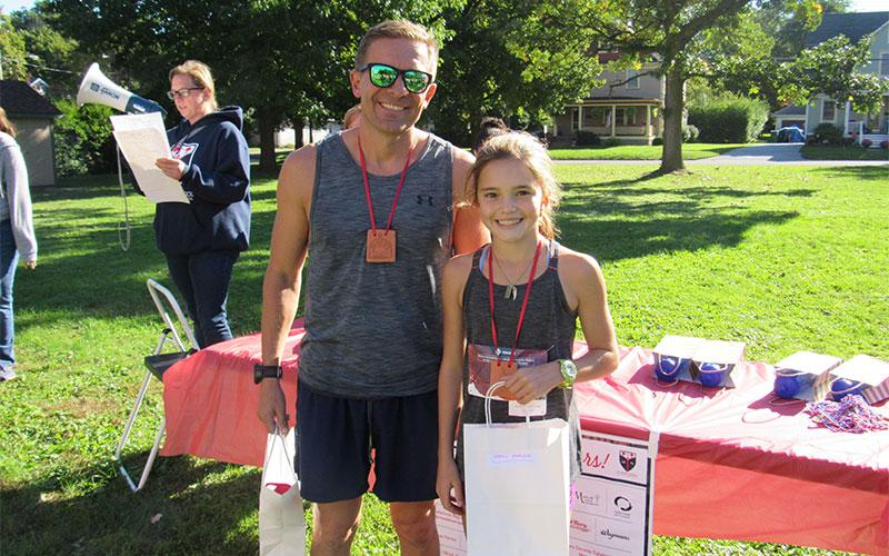 St. Agnes Student Catherine Staley posted the best Female time in the St. Agnes School Race to Educate and Josh Harter won for the Male Division.