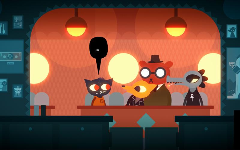 """Screenshot of the video game """"Night in the Woods"""""""