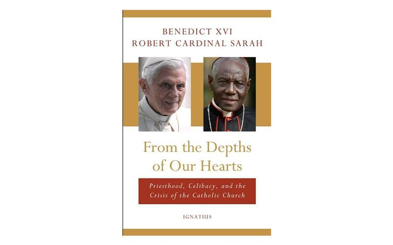 "This is the cover of ""From the Depths of Our Hearts,"" by retired Pope Benedict XVI and Cardinal Robert Sarah, prefect of the Congregation for Divine Worship and the Sacraments."