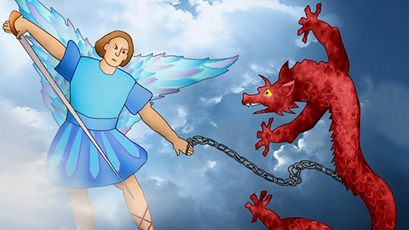 Michael and his angels battle a dragon | Catholic Courier