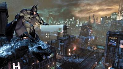 "This is an image from the video game ""Batman: Arkham City."" The Catholic News Service classification is A-III -- adults. The Entertainment Software Ratings Board rating is T -- Teen."