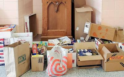 <p>In November, students at All Saints Academy in Corning collected nearly 400 pounds of food for a local food pantry. </p>