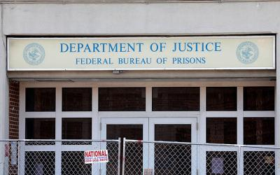 <p>A Federal Bureau of Prisons building is pictured in the Brooklyn borough of New York City July 6, 2020. (CNS photo by Mike Segar/Reuters)  </p>
