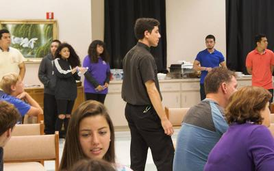 <p>Youth are seen during a retreat at Our Lady of Perpetual Help Retreat and Spirituality Center in Venice, Fla. (CNS photo by Our Lady of Perpetual Help Retreat and Spirituality Center)  </p>