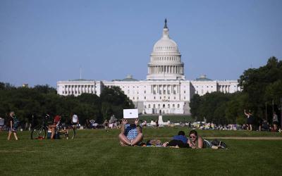 <p>People are seen near the U.S. Capitol in Washington June 23, 2021. (CNS photo by Tyler Orsburn)  </p>
