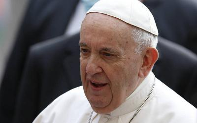 <p>Pope Francis was hospitalized July 4 for previously scheduled colon surgery, the Vatican press office said. He is pictured at the Vatican June 9, 2021. (CNS photo by Paul Haring)  </p>
