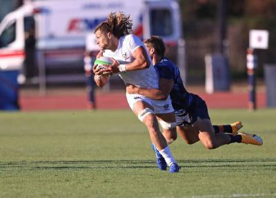 <p>U.S. rugby player Joe Schroeder competes against Argentina in this undated photo. The 2012 Indianapolis Cathedral High School graduate will represent his country in the Tokyo Olympics July 23-Aug. 8, 2021. (CNS photo by Travis Prior/courtesy The Criterion)  </p>
