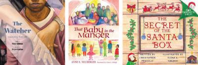 "<p>These children's books are suitable for Christmas giving: ""The Watcher"" by Nikki Grimes, ""That Baby in the Manger"" by Anne E. Neuberger and ""The Secret of the Santa Box"" by Christopher Fenoglio.  </p>"