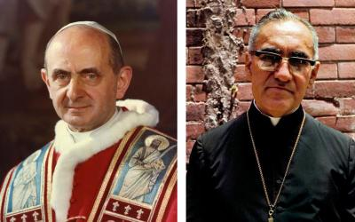 Pope Francis has cleared the way for the canonizations of Blesseds Paul VI and Oscar Romero. A canonization constitutes an emphatic, but plain and clear statement that holiness can be found in this world; holiness is within our reach. (CNS photos/files/Octavio Duran)