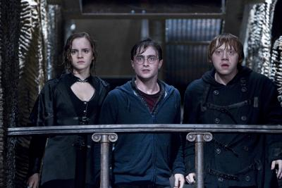"""Emma Watson, Daniel Radcliffe and Rupert Grint star in a scene from the movie """"Harry Potter and the Deathly Hallows -- Part 2."""""""