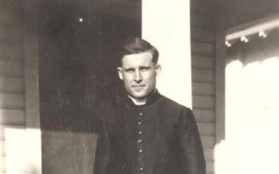 Father Gregory Keller, seen here around 1924, served as a parish priest while making inventions for his brother-in-law's candy company in Georgia. Father Keller, a native of Little Rock, Ark., had a hand in creating the candy cane, a treat that is especially popular at Christmastime. (CNS photo by Diocese of Little Rock Archives)