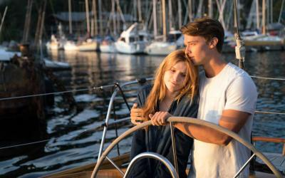 """Bella Thorne and Patrick Schwarzenegger star in a scene from the movie """"Midnight Sun."""" The Catholic News Service classification is A-II -- adults and adolescents. The Motion Picture Association of America rating is PG-13 -- parents strongly cautioned. Some material may be inappropriate for children under 13. (CNS photo by Open Road Films)"""
