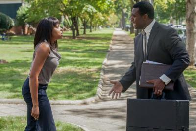 """Taraji P. Henson and Lyriq Bent star in a scene from the movie """"Acrimony."""" The Catholic News Service classification is L -- limited adult audience, films whose problematic content many adults would find troubling. The Motion Picture Association of America rating is R -- restricted. Under 17 requires accompanying parent or adult guardian. (CNS photo by Lionsgate)"""