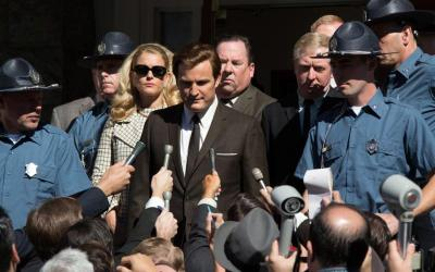 """Andria Blackman and Jason Clarke star in a scene from the movie """"Chappaquiddick."""" The Catholic News Service classification is A-III -- adults. The Motion Picture Association of America rating is PG-13 -- parents strongly cautioned. Some material may be inappropriate for children under 13. (CNS photo by Entertainment Studios)"""