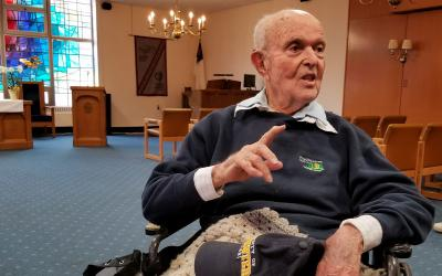"John ""Jack"" Reinhardt, 95, is a World War II veteran, a lifelong Catholic and a dedicated volunteer. Staff writer Jennifer Burke talked with him April 10 for an article that will be published in the Catholic Courier's May edition."