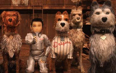 "Animated characters Chief, voiced by Bryan Cranston, King, voiced by Bob Balaban, Atari Kobayashi, voiced by Koyu Rankin, Boss, voiced by Bill Murray, Rex, voiced by Edward Norton, and Duke, voiced by and Jeff Goldblum, appear in the movie ""Isle of Dogs."" (CNS photo by Fox Searchlight)"