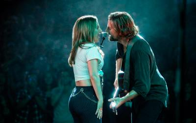 """Bradley Cooper and Lady Gaga star in a scene from the movie """"A Star is Born."""" (CNS photo by Kurt Jensen)"""