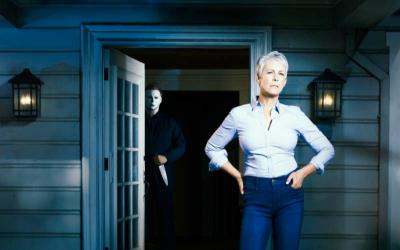 """Jamie Lee Curtis stars in the movie """"Halloween."""" The Catholic News Service classification is O -- morally offensive. The Motion Picture Association of America rating is R -- restricted. Under 17 requires accompanying parent or adult guardian.(CNS photo by Universal)"""