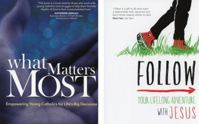 "These are the covers of ""What Matters Most: Empowering Young Catholics for Life's Big Decisions"" by Leonard J. DeLorenzo and ""Follow: Your Lifelong Adventure with Jesus"" by Katie Prejean McGrady. The books are reviewed by Patrick T. Brown. (CNS)"