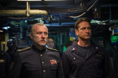 "Michael Nyqvist and Gerard Butler star in a scene from the movie ""Hunter Killer."" (CNS photo by Lionsgate)"