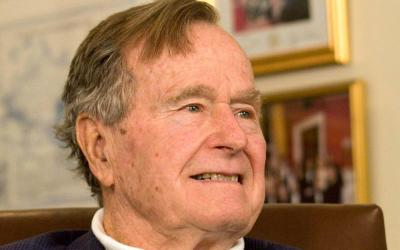 George H.W. Bush, the 41st president of the United States, died at age 94 Nov. 30 at his home in Houston. Bush is pictured in a 2012 photo. (CNS photo by Donna Carson/Reuters)