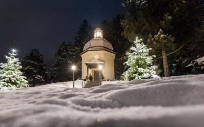 "The Silent Night Chapel, which is in the town of Oberndorf in the Austrian state of Salzburg, is a monument to the Christmas carol ""Silent Night."" The chapel stands on the site of the former St. Nicholas Church, where on Christmas Eve in 1818 the carol was performed for the first time. (CNS photo courtesy www.stillenacht.com)"