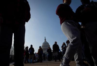 Pro-life advocates gather near the U.S. Capitol in Washington Jan. 18, 2019. (CNS photo/Tyler Orsburn