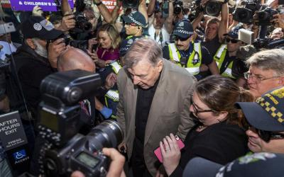 Australian Cardinal George Pell arrives at the County Court in Melbourne Feb. 27, 2019. (CNS photo by Daniel Pockett/AAP images via Reuters)