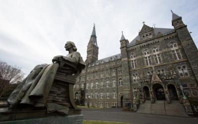 Georgetown University in Washington is seen Feb. 15, 2018. (CNS photo by Tyler Orsburn)