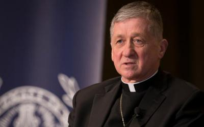 Chicago Cardinal Blase J. Cupich is seen at Georgetown University in Washington June 4, 2018. (CNS photo by Tyler Orsburn)