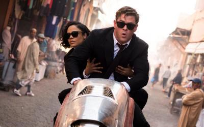 "Chris Hemsworth and Tessa Thompson star in a scene from the movie ""Men In Black: International."" (CNS photo by Sony Pictures)"