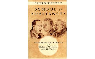 """This is the cover of """"Symbol or Substance? A Dialogue on the Eucharist with C.S. Lewis, Billy Graham and J.R.R. Tolkien"""" (Photo by CNS)"""