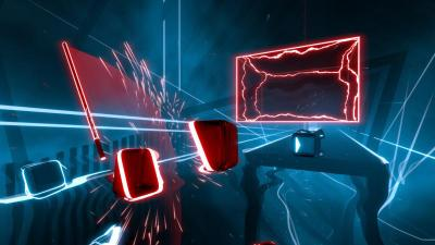 "This is an image from the video game ""Beat Saber."" (CNS photo by Beat Games)"