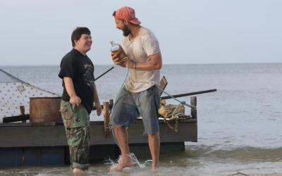 """Zack Gottsagen and Shia LaBeouf star in a scene from the movie """"The Peanut Butter Falcon."""""""