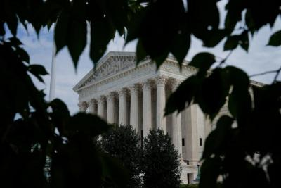 The exterior of the U.S. Supreme Court in Washington is seen Sept. 16, 2019.