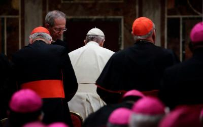 Pope Francis and prelates from around the world