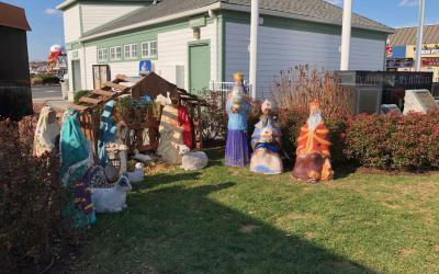 This creche had been displayed for at least 50 years in the town square of Rehoboth Beach, Del.