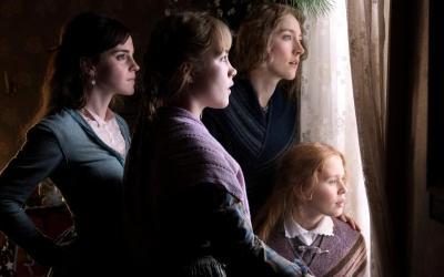 "Emma Watson, Saoirse Ronan, Eliza Scanlen and Florence Pugh star in a scene from the movie ""Little Women."""