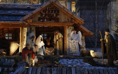 The Nativity scene decorates St. Peter's Square at the Vatican Dec. 20, 2019.